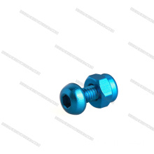 ISO7380 Hex Button Head anodiserad M3 Aluminiumskruv
